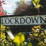 lockdown sign in the UK